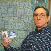 Verifying digital-record information is going to be difficult, says Dillinger, Iowa's Driver Services' director. -- Photo by Steve Pope